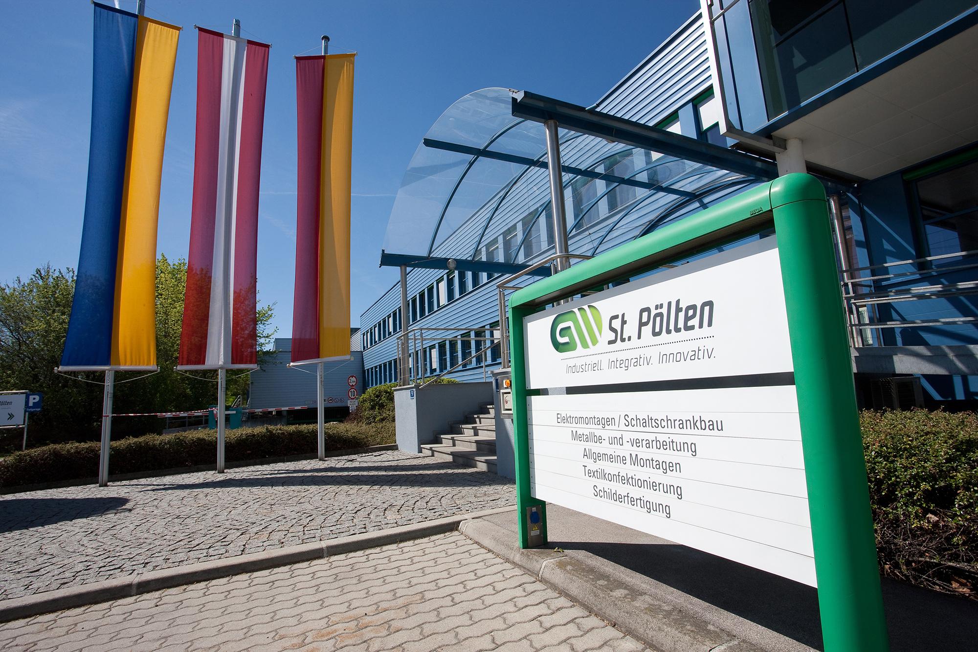 Haupteingang der GW St. Pölten